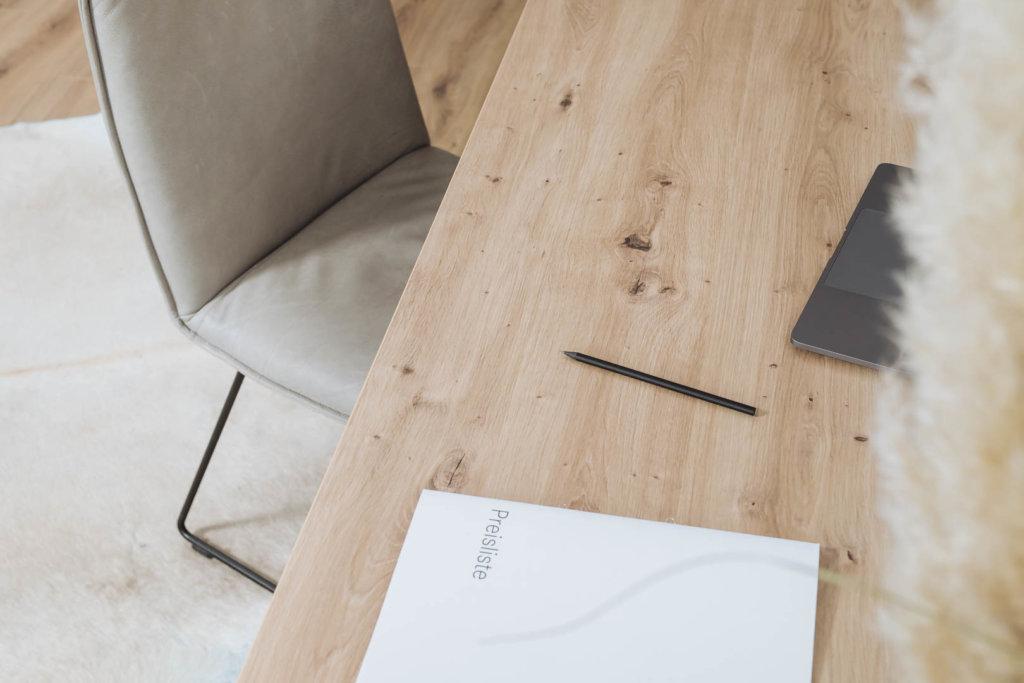 Tischplatte in Atram Eiche nach Maß
