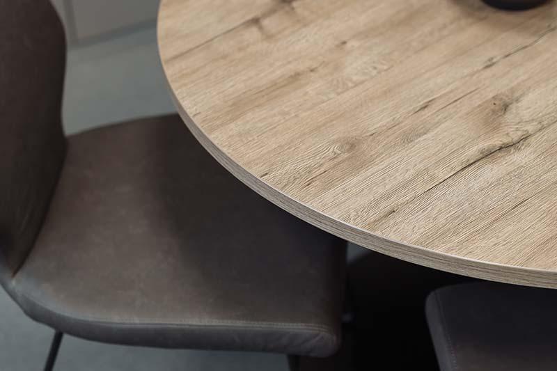 Tischplatte nach Maß rund in Holzoptik