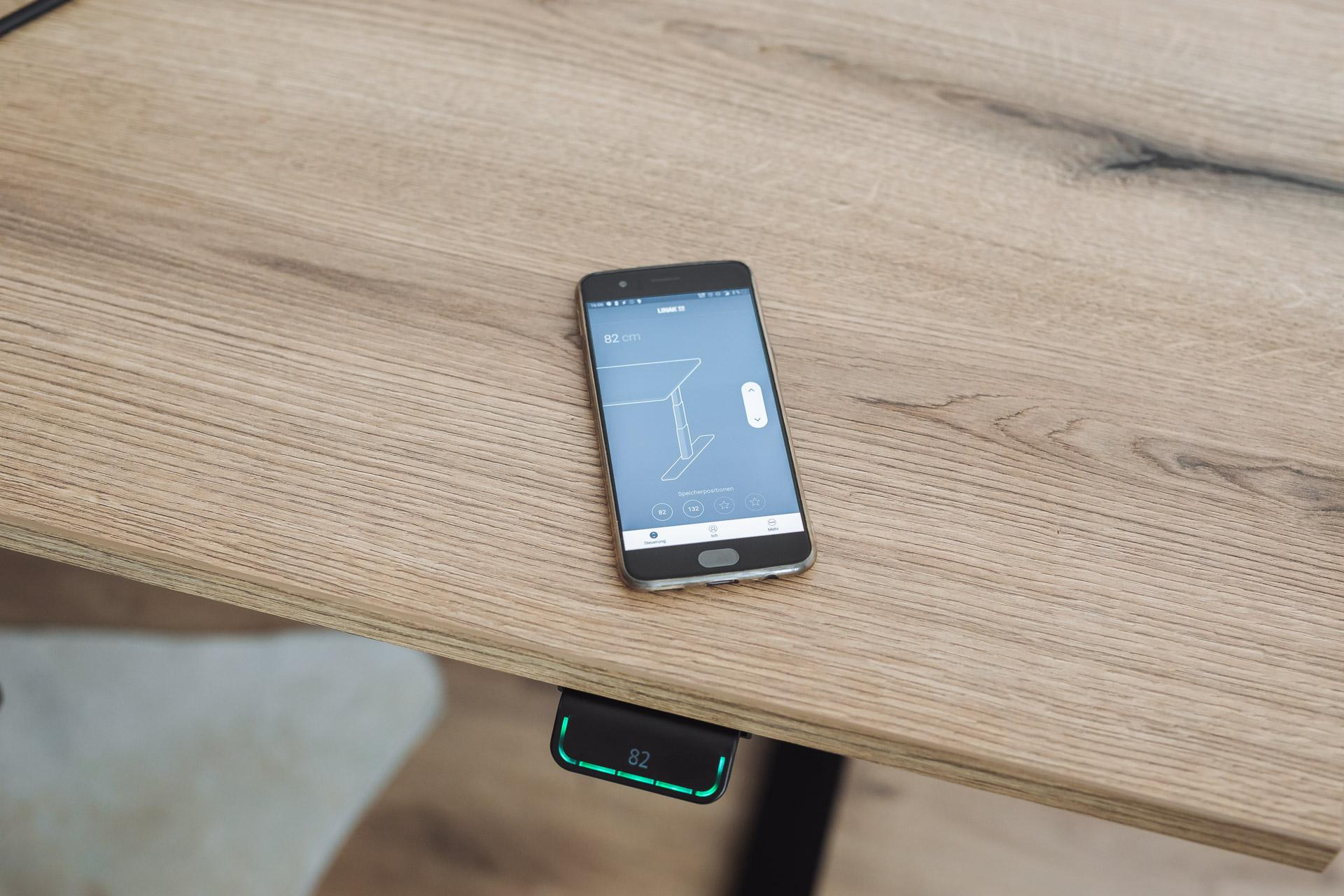 Tischgestell höhenverstellbar Schreibtisch Linak mit App Funktion
