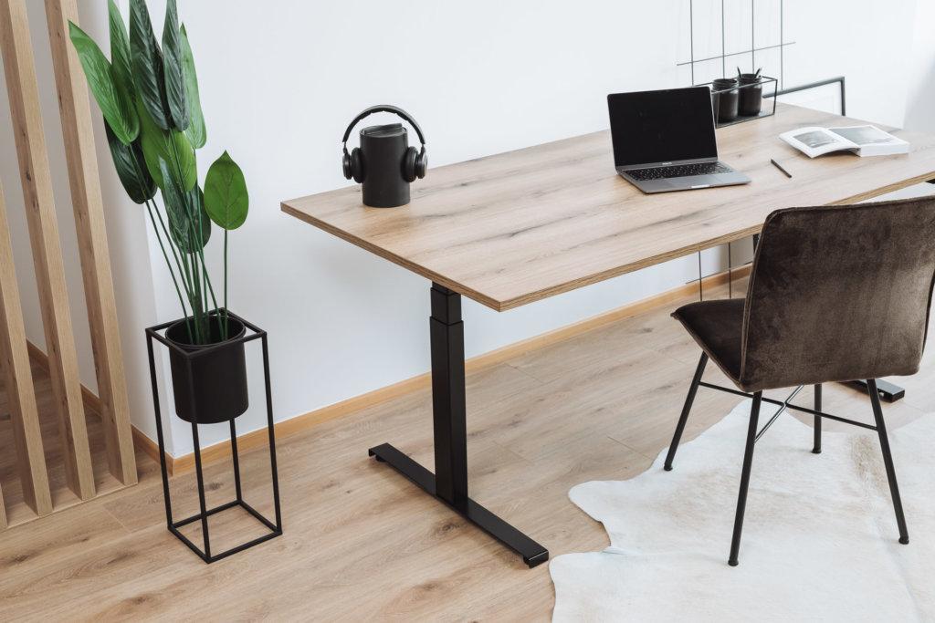 Tischgestell höhenverstellbar Schreibtisch Linak mit Tischplatte von Holzplatte Online